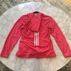 adidas Tops - Pink Adidas zippered hoddie